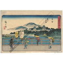 Utagawa Hiroshige: Yoshida: Toyo-River and Yoshida-Bridge (Station 34, Print 35) - Austrian Museum of Applied Arts