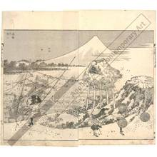 葛飾北斎: Mount Fuji in winter storm - Austrian Museum of Applied Arts