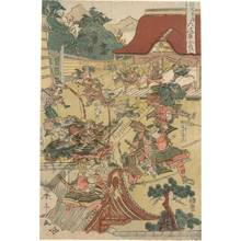 Katsukawa Shuntei: Battle of Rokuhara in the Hogen/Heiji period - Austrian Museum of Applied Arts