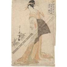 Hosoda Eishi: First meeting with a guest, The courtesan Takigawa from the Ogi house - Austrian Museum of Applied Arts