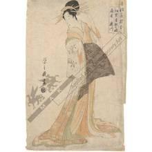 細田栄之: First meeting with a guest, The courtesan Takigawa from the Ogi house - Austrian Museum of Applied Arts