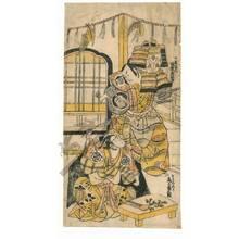 Torii Kiyonobu II: Bando Hikosaburo as Kudo Saemon and Onoe Kikugoro as Soga no Goro - Austrian Museum of Applied Arts