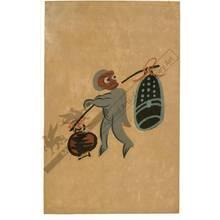 Otsu-e artist: Ape with a bell (title not original) - Austrian Museum of Applied Arts