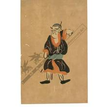 Otsu-e artist: Young nobleman (title not original) - Austrian Museum of Applied Arts