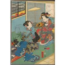 Utagawa Kunisada II: A truly happy meeting at Akashi - Austrian Museum of Applied Arts