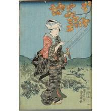 Utagawa Kunisada: Pleasure of mushroom gathering in the autumn - Austrian Museum of Applied Arts