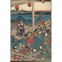 Utagawa Kuniteru: Picture of the children's musical contest - Austrian Museum of Applied Arts