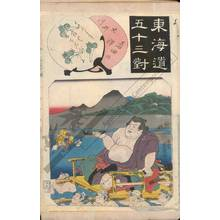 Utagawa Kunisada: Oi river near the station Shimada (Station 23, Print 24) - Austrian Museum of Applied Arts