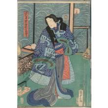 二代歌川国貞: Geisha Jiraiya no Oyuki - Austrian Museum of Applied Arts