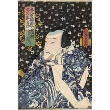 Utagawa Kunisada: Ichimura Uzaemon as An no Heibei - Austrian Museum of Applied Arts