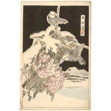 幸野楳嶺: Birds and peonies (title not original) - Austrian Museum of Applied Arts