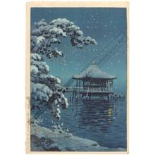 Tsuchiya Koitsu: Ukimi hall at Katada in snow - Austrian Museum of Applied Arts