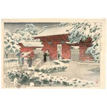 笠松紫浪: Red gate in snow - Austrian Museum of Applied Arts