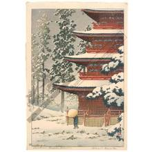 川瀬巴水: Temple Saishoin at Hirosaki - Austrian Museum of Applied Arts
