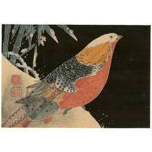 Jakuchu: Pheasant and bamboo in winter - Austrian Museum of Applied Arts