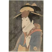 Toshusai Sharaku: Nakayama Tomisaburo as Miyagino (title not original) - Austrian Museum of Applied Arts