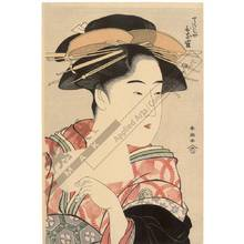 勝川春潮: Courtesan Hinazuru from the Choji house - Austrian Museum of Applied Arts