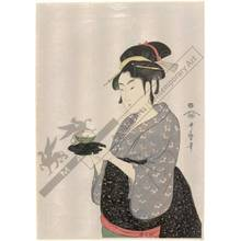 喜多川歌麿: Okita from Naniwa teahouse (title not original) - Austrian Museum of Applied Arts