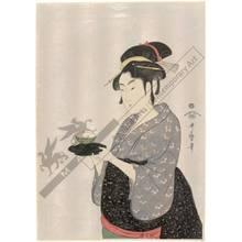喜多川歌麿: Okita from Naniwa teahouse (title not original) - Austrian Museum of Applied Arts