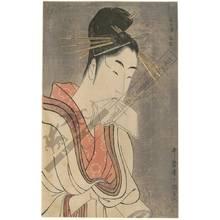 Kitagawa Utamaro: Courtesan Hinazuru from the Keizetsu house - Austrian Museum of Applied Arts