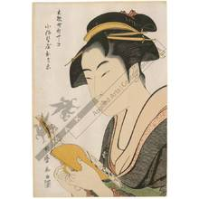 Kitagawa Utamaro: Courtesan Ochie from the Koise house in Shinyashiki in the district Kobikicho - Austrian Museum of Applied Arts