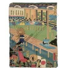 歌川芳虎: Ashikaga Takauji and Ko no Moronao (title not original) - Austrian Museum of Applied Arts