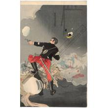 Taguchi Beisaku: Heroic fight of the scout Takenouchi at Chunghua - Austrian Museum of Applied Arts