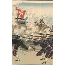 渡辺延一: Fierce fighting of the army at Weihaiwei near the coast - Austrian Museum of Applied Arts