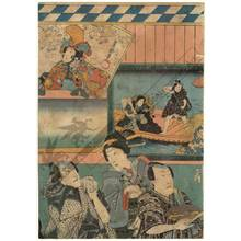 Utagawa Kunisada: Theatre signboards (title not original) - Austrian Museum of Applied Arts