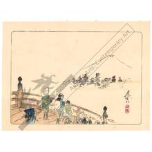 Shibata Zeshin: Viewing the Fuji from Nihon-Bridge (title not original) - Austrian Museum of Applied Arts