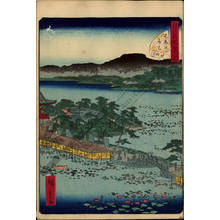 Utagawa Hiroshige II: Number 9: The Benten Shrine at Shinobazu pond - Austrian Museum of Applied Arts