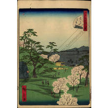 Utagawa Hiroshige II: Number 13: Viewing cherry blossoms at Asukayama - Austrian Museum of Applied Arts