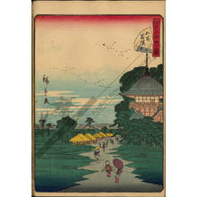 "Utagawa Hiroshige II: Number 26: Temple of the ""Fivehundred Arhat"" - Austrian Museum of Applied Arts"