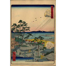 Utagawa Hiroshige II: Number 27: The Benten shrine at Susaki - Austrian Museum of Applied Arts
