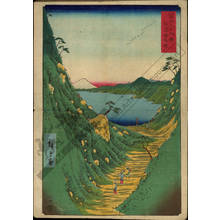 Utagawa Hiroshige: Shiojiri pass in the province of Shinano - Austrian Museum of Applied Arts