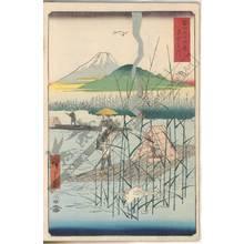 Utagawa Hiroshige: Sagami river - Austrian Museum of Applied Arts