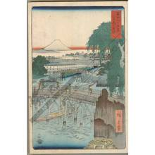 歌川広重: Ichikoku bridge in the eastern capital - Austrian Museum of Applied Arts