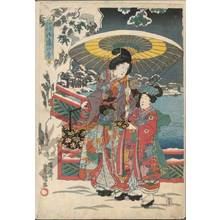 Utagawa Kunisada: Snow in the garden - Austrian Museum of Applied Arts