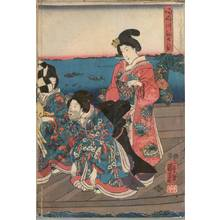 Utagawa Kuniyoshi: First sunrise of the year at Sumida river - Austrian Museum of Applied Arts