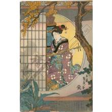 Utagawa Sadahide: Garden in late summer - Austrian Museum of Applied Arts