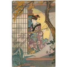 Utagawa Sadahide: Garden in late summer - Austrian Museum of Applied Arts