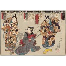 "Utagawa Kunisada: Kabuki play ""Inazuma hyoshi"" - Austrian Museum of Applied Arts"