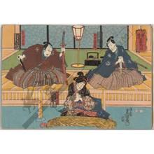 """歌川国貞: Kabuki play """"Eiri shosetsu asagao monogatari"""" - Austrian Museum of Applied Arts"""