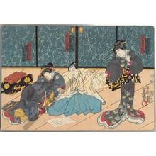 Utagawa Kunisada: Sonoasa, wife of Genpachi, and Oteru, daughter of Genpachi - Austrian Museum of Applied Arts