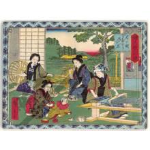 Utagawa Hiroshige III: Spinning and weaving - Austrian Museum of Applied Arts
