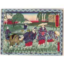 Utagawa Hiroshige III: Rice planting - Austrian Museum of Applied Arts