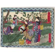 Utagawa Hiroshige III: Picking tea leaves - Austrian Museum of Applied Arts