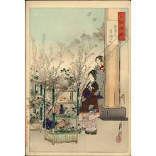 尾形月耕: Flower vendor and woman who arranges flowers - Austrian Museum of Applied Arts