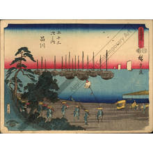 Utagawa Hiroshige: Print 2: Shinagawa (Station 1) - Austrian Museum of Applied Arts