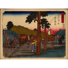 Utagawa Hiroshige: Print 44: Ishiyakushi (Station 44) - Austrian Museum of Applied Arts